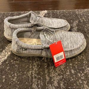 Hey Dude Wally B Sox Shoe Grey size US 10